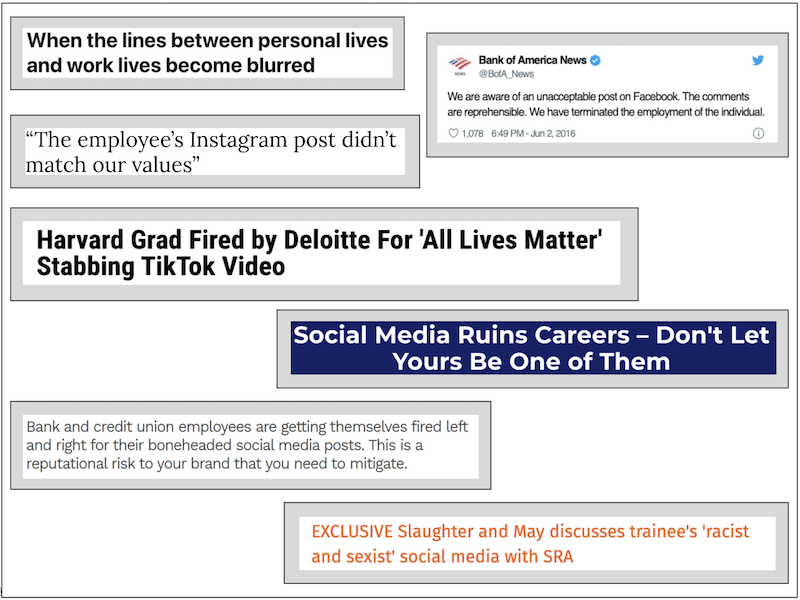 Image showing a selection of quotes relating to social media